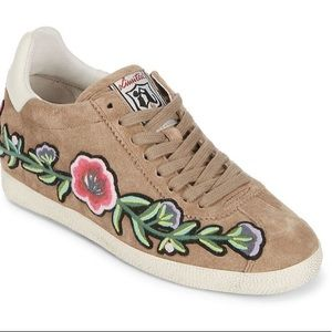 ASH tan gull sneaker with embroidery size 8
